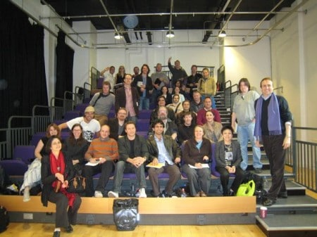 Blake at his London seminar