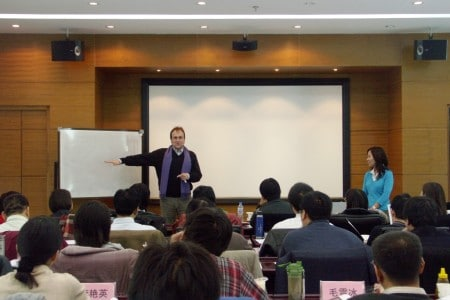 Blake teaching at the China Film Academy