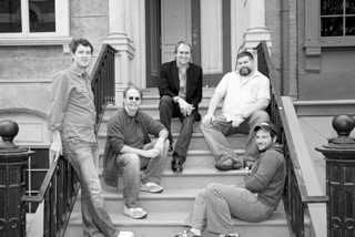 Blake and his Writers Group on the Warner Bros backlot: (left to right) Ben Frahm, Dan Goldberg, Blake, Dean DeBlois, Jeremy Garelick