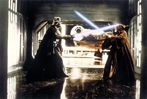 Dark and Light do battle.