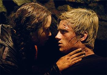 Katniss and Peeta, sittin' in a cave...