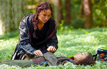 Katniss gives tribute to a fallen friend.