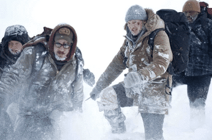 After the men crash land, their faced with a cold confrontation.