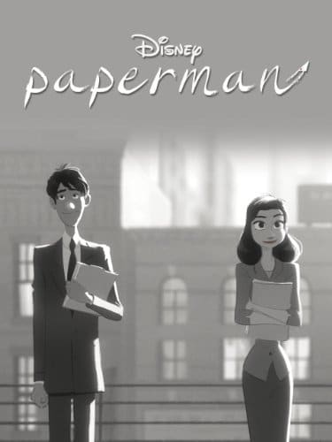 "Disney's poster for ""Paperman"" ©Disney"