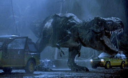 Cars that wish they weren't Jurassic parked.