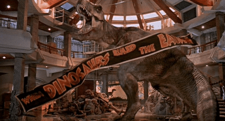 You are now leaving Jurassic Park.
