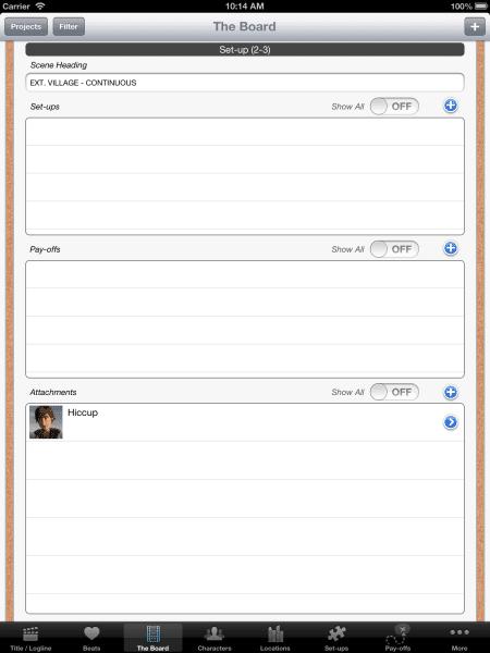 Set-ups and Payoffs - iPad