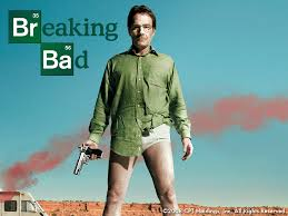 the iconic pilot/first season shot of Bryan Cranston as Walter White