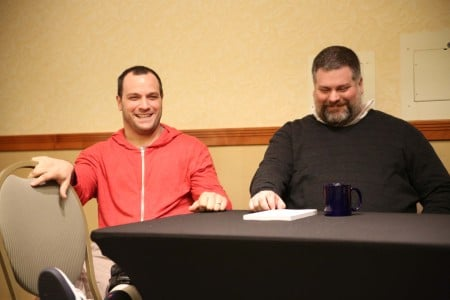 Jeremy Garelick (left) with Dean DeBlois at the STC! one-day event last year