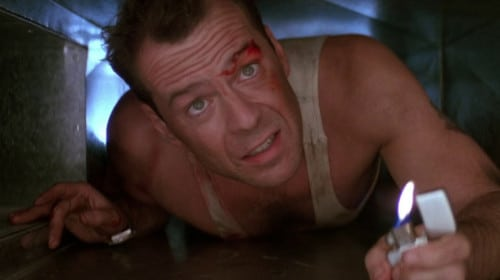 "Bruce Willis as John McClane in ""Die Hard"""