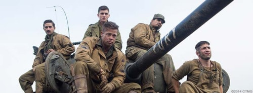 Wardaddy (Brad Pitt) and his five-man crew on a deadly mission behind enemy lines