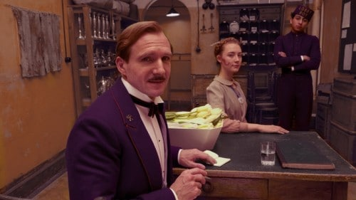 Ralph Fiennes as M. Gustave at The Grand Budapest Hotel