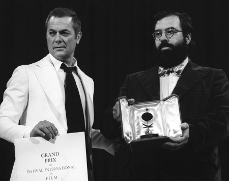 Francis Ford Coppola receives the Palme D'Or from Tony Curtis