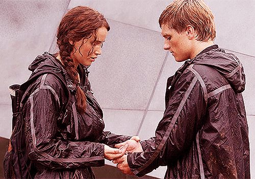 Katniss and Peeta dig deep down in an act of defiance in The Hunger Games.