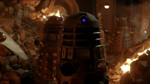 Daleks threaten to exterminate all life in the universe during the Great Time War.