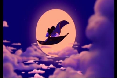 Riding off into the moonlight of a whole new world.