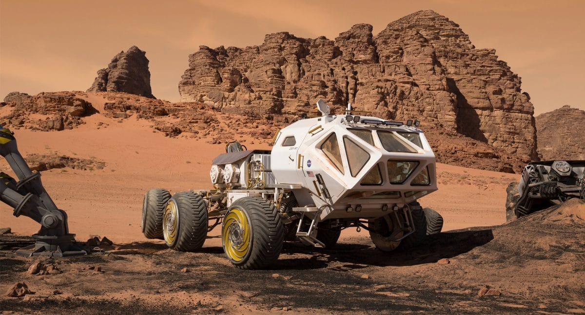 The Rover, Mark's vehicle to the Schiapparelli crater.