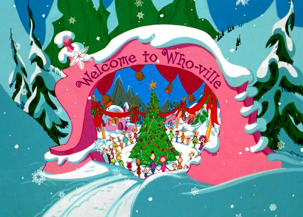 Who-ville: the idyllic Christmas town.