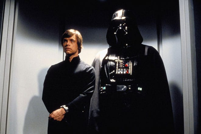 Luke accompanies Vader, but will he give in to his inner bad guys and join the Dark Side?