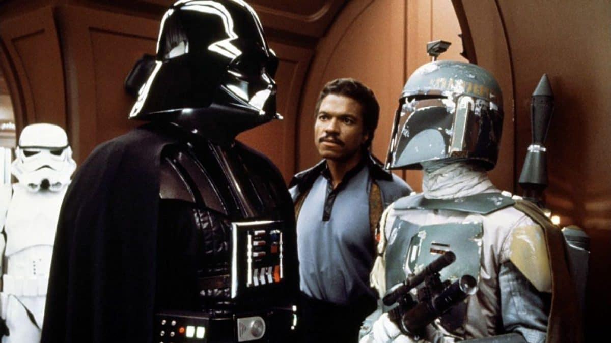Darth Vader and Boba Fett—the Bad Guys are closing in on Han Solo and the others.