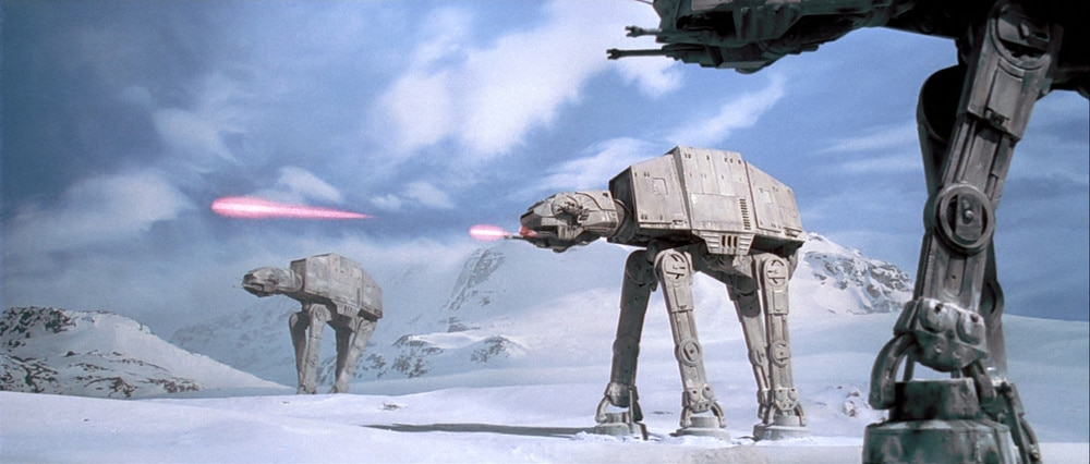 AT-ATs attack the Rebel base on Hoth in an action-packed Break into Two.