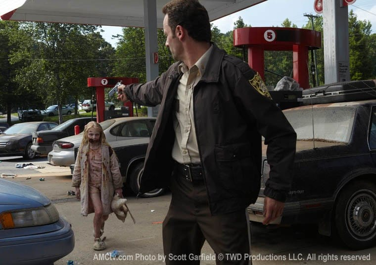 Rick and the girl at the gas station.