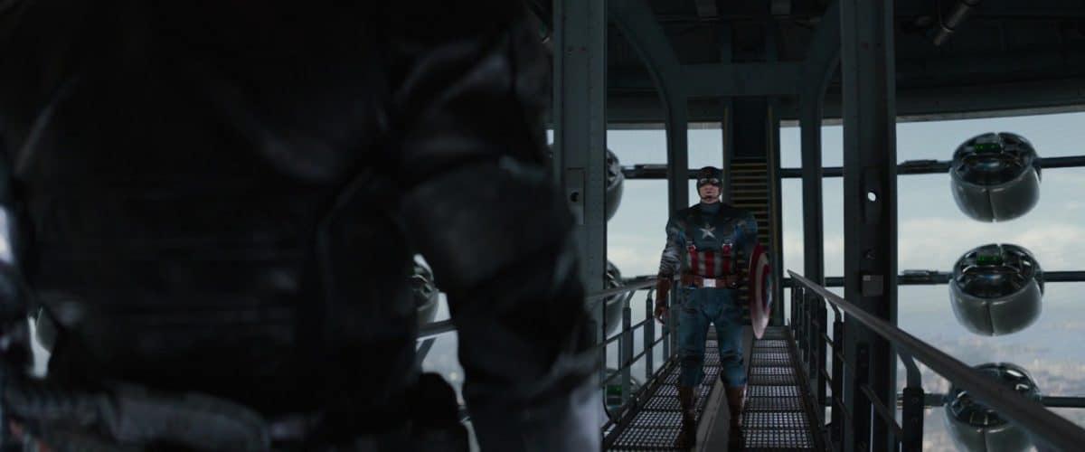 Steve faces Bucky as he prepares to dig, deep down.