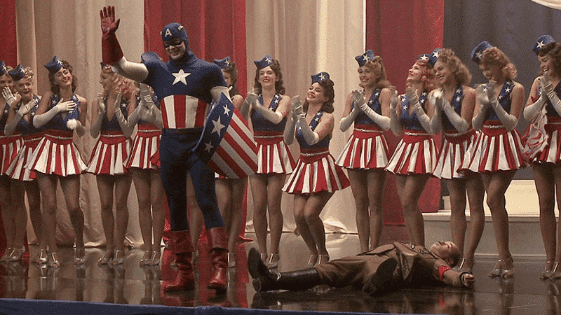 Punching out Hitler… Captain America is born!