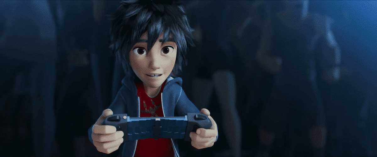 Hiro displays his genius and his courage as he takes on a champion bot fighter.