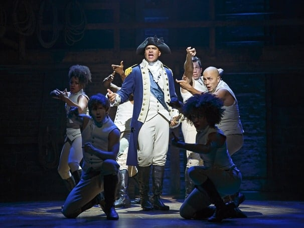 Christopher Jackson as George Washington in the original cast of Hamilton. Photo: Joan Marcus