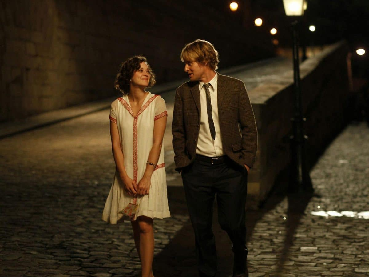 Marion Cotillard, the classic B Story Character, with Owen Wilson in Midnight in Paris