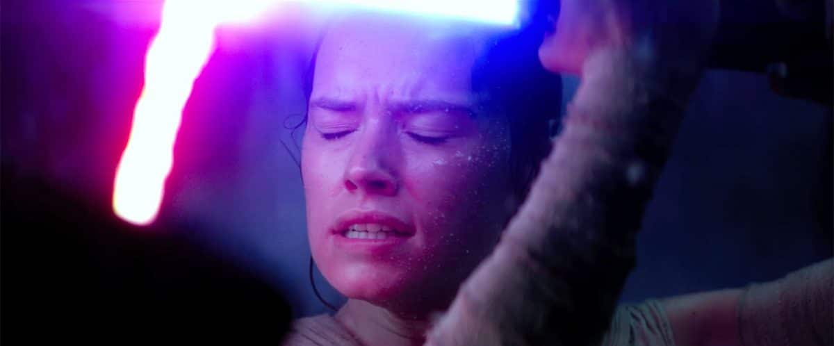 Rey digs, deep down, as she embraces The Force.