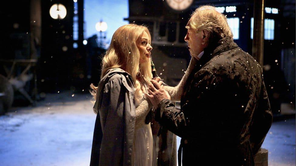Abigail sings, spending her final Christmas with Kazran Sardick.