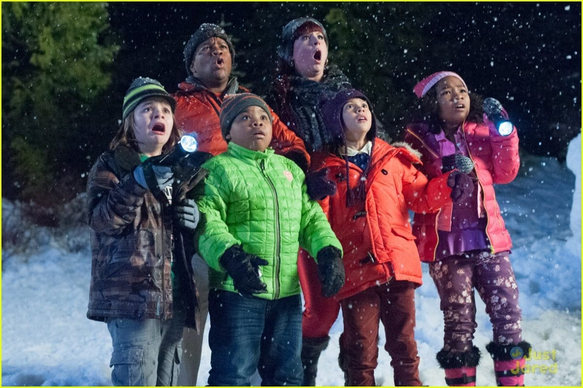 It helps to be versatile. The kids from Jamie's Santa Hunters for Nickelodeon.
