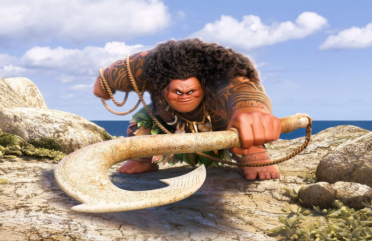 "Maui, voiced by Dwayne ""The Rock"" Johnson"