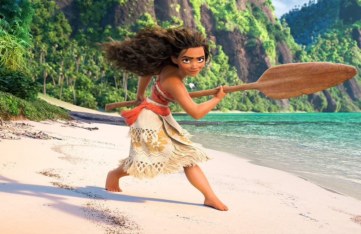 Moana, voiced by Auli'i Cravalho