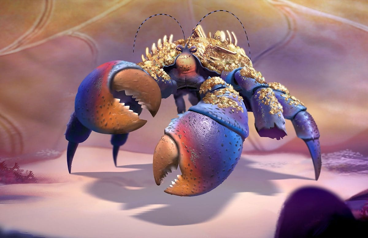 Tamatoa, voiced by Jemaine Clement