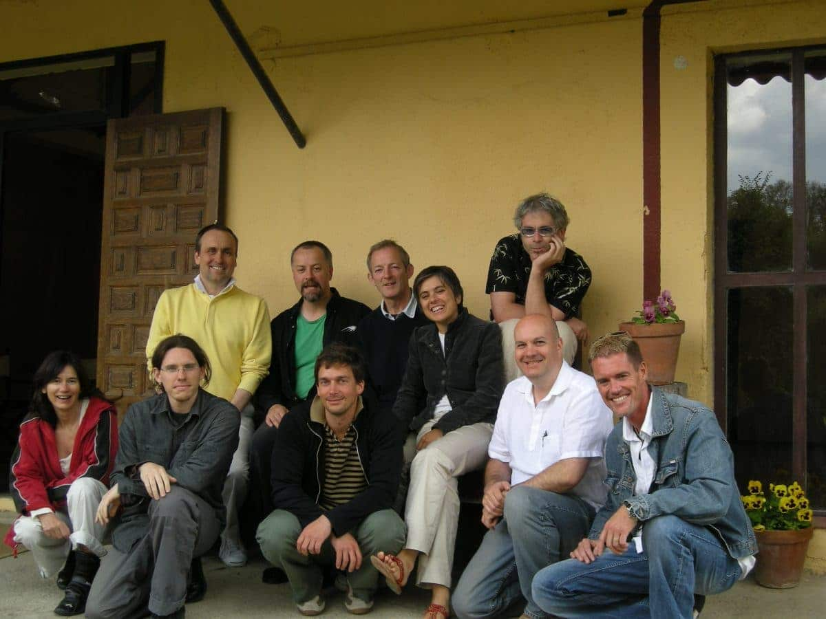 Salva Rubio (first row, second from left) and Blake Snyder (second row, first from left) at Blake's screenwriting workshop in Spain in 2007.