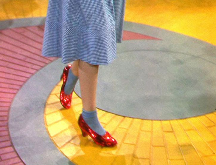 The film Breaks into Two as Dorothy takes her first steps down the yellow brick road.