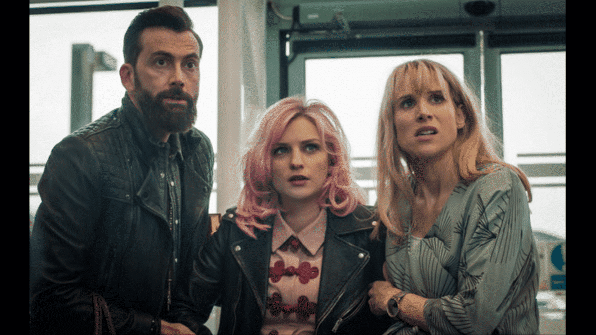 David Tennant, Faye Marsay and Lucy Punch in