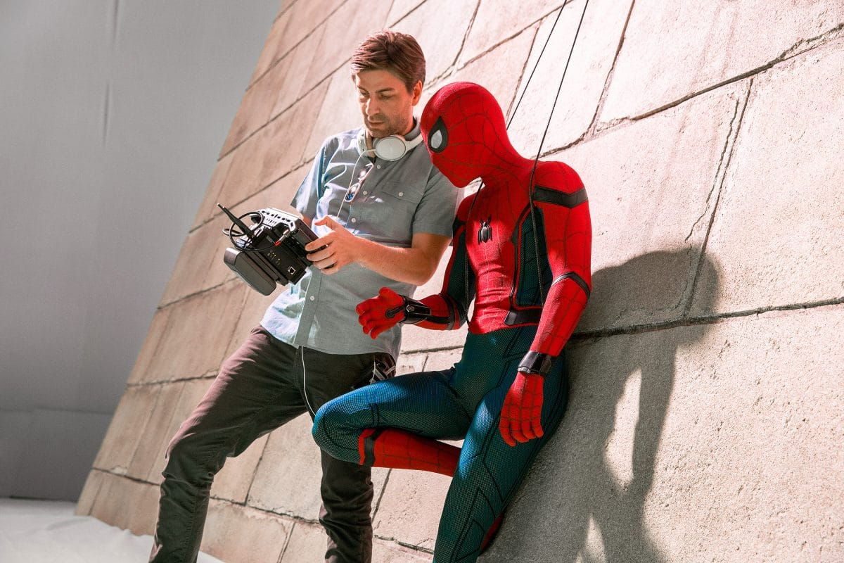 Spider-Man: Homecoming (2017) Director Jon Watts and Tom Holland on the set/Chuck Zlotnick - Columbia Pictures