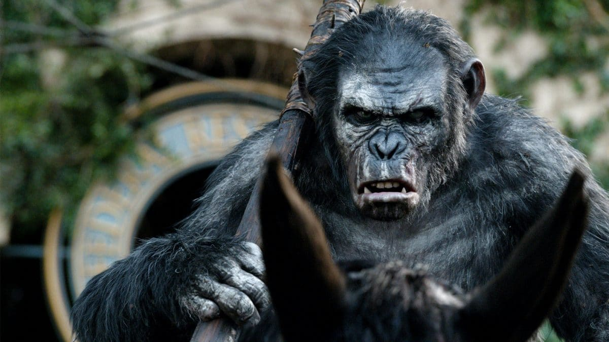 "Koba (Toby Kebbell), the ""nemesis,"" wants war with the humans."