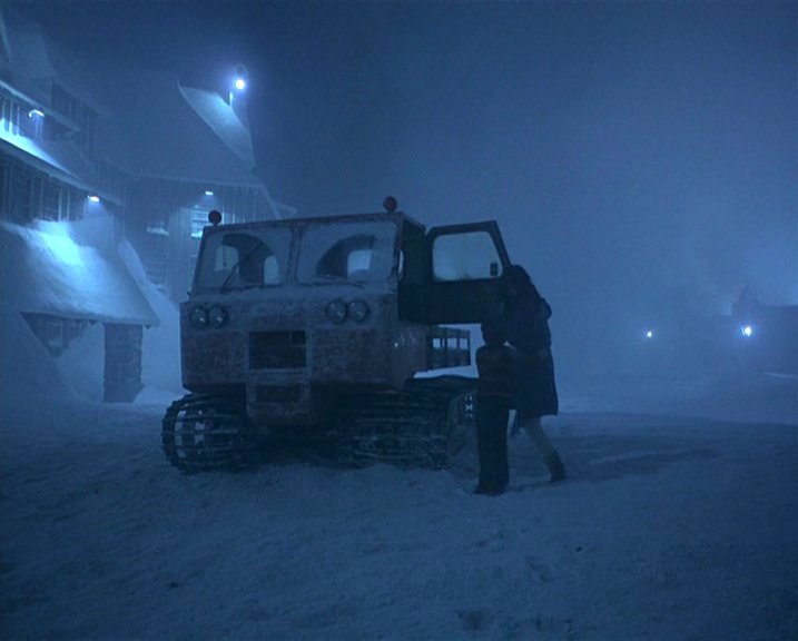 Wendy and Danny escape in the Thiokol Spryte snowcat that Dick Hallorann provided, delivering them from the menacing Jack forever.