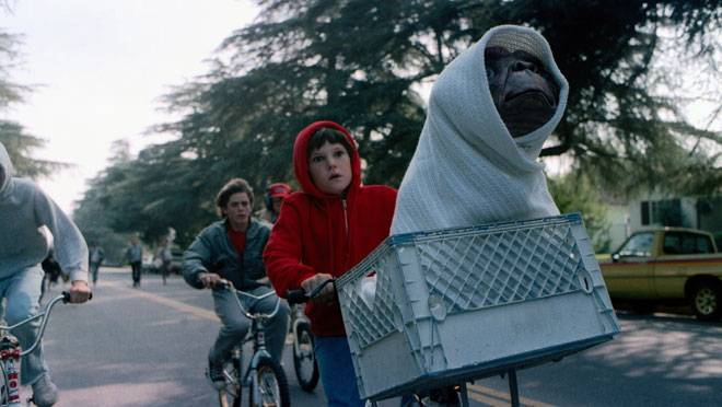 Elliott communicates his feelings to E.T., saving their lives.