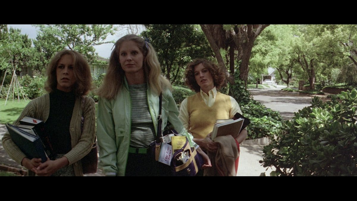 Laurie and her soon-to-be-doomed friends, Lynda and Annie. Should've stayed in school.