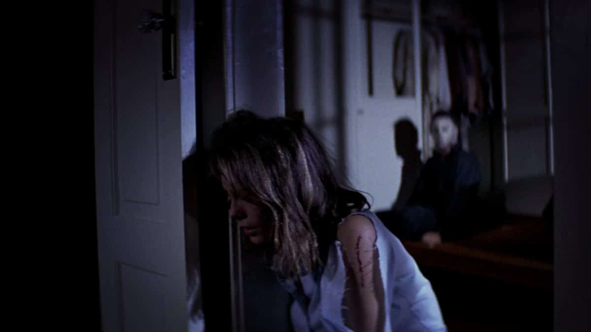 Laurie lets her guard down—something the hero should never do in a horror film.