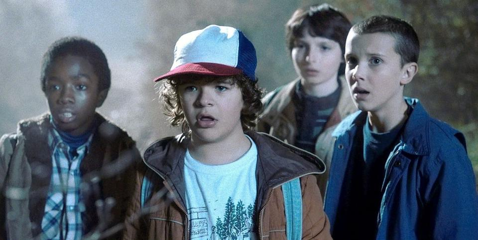 Will's friends Lucas, Dustin, and Mike team up with Eleven to rescue him from the Upside Down.