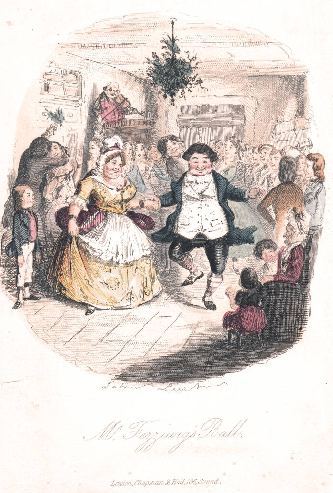 Dickens's A Christmas Carol, 1843 Edition, frontispiece illustration by John Leech. Scanned by Philip V. Allingham, http://www.victorianweb.org/art/illustration/carol/gallery.html