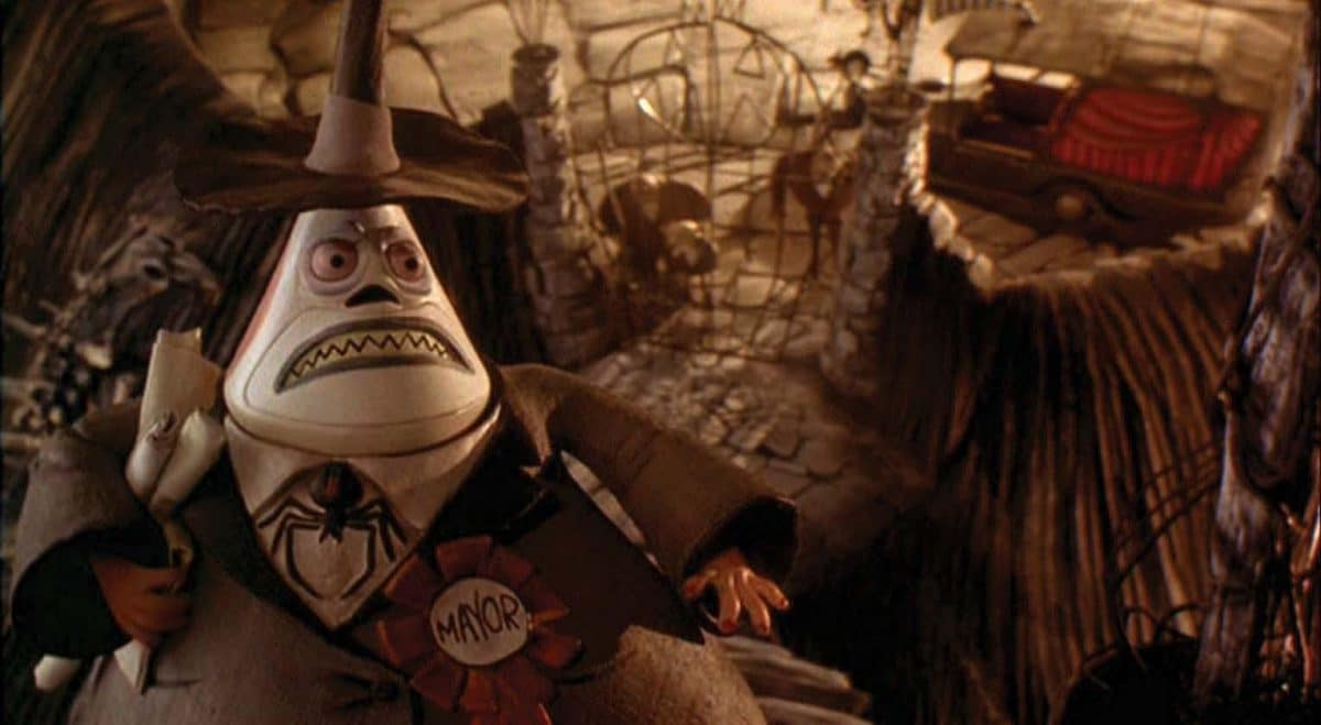 The two-faced Mayor of Halloween Town is showing his anxious side when he discovers Jack missing.