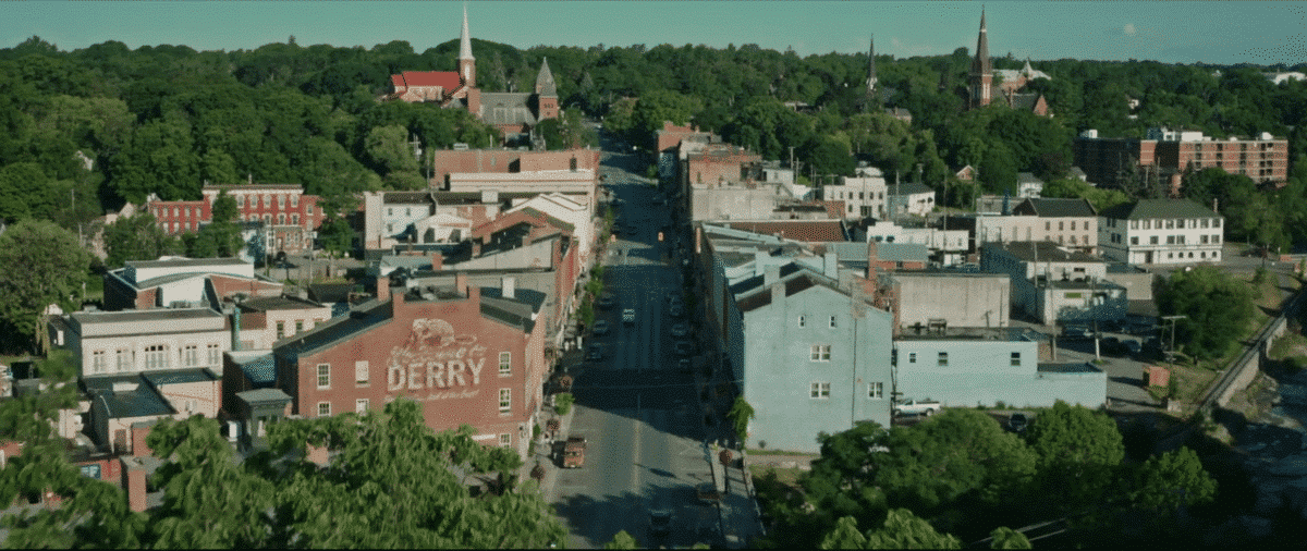 """The haunted town of Derry with is the """"house"""" where the """"monster"""" dwells."""